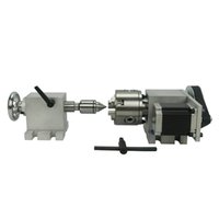 80mm cauda traseira e rotativo a eixo 4º eixo para a máquina de moagem do gravador do roteador CNC