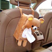 Animales en forma de cajas de papel para el papel de la servilleta del coche Silla colgante trasero del bolso de la caja del tejido elefante Panda Conejo Oso Casos 7 5HL H1