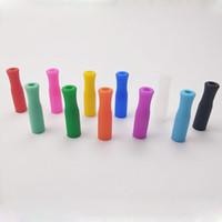 11 ألوان الأسهم نصائح سيليكون لالفولاذ المقاوم للصدأ القش الإبداعية قابلة لإعادة الاستخدام الأسنان الوقاية من الاصطدام القش تغطية أنابيب السيليكون