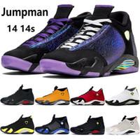 14 14s erkek basketbol ayakkabıları Doernbecher siyah çok renkli ayak jimnastiği kırmızı turbo indiglo hiper kraliyet erkekler açık eğitmenler sneakers ABD 7-13