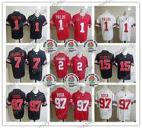 Ohio State Buckeyes 2019 # 1 Justin Fields # 2 JK Dobbins # 7 Haskins Jr. # 97 Nick Bosa # 15 Elliott Rose Bowl NCAA Football Jersey