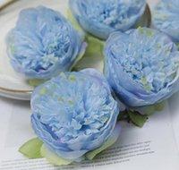 Wealthy Peony flores do casamento da flor de parede Arranjo Real Peony Cadastre-in Pen Fazendo 50pcs Acessórios Silk Peony Cabeça de flor / lot WL579