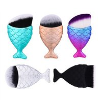 Mermaid Make-up Pinsel Pulver Contour Fischschuppen Mermaid Fish Tail Powder Foundation kosmetische Werkzeuge Gesicht Make-up Pinsel KKA7820