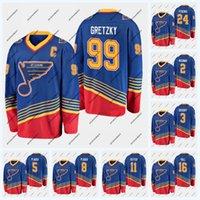 St. Louis Blues 99 Wayne Gretzky Heritage Jersey 2 Al MacInnis 16 Brett Scafo 11 Brian Sutter 8 Barclay Plager 5 Bob Plager 24 Bernie Federko