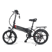 ABD Hisse Senedi Akıllı Elektrikli Bisiklet Sembike 20LVXD30 Iki Tekerlekler Elektrik Bisikletleri 48 V 10.4Ah Katlanabilir Elektrikli Bisiklet Çıkarılabilir Pil Siyah