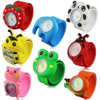 3D Niños de Dibujos Animados Relojes Precioso Banda de Silicona Bofetada Reloj Casual Animal Niños Reloj Creativo Reloj de pulsera de Cuarzo Regalo de Navidad