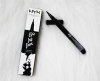 NX ملحمة الحبر بطانة اسود قلم رصاص برئاسة ماكياج السائل لون كحل ماء مستحضرات التجميل الحرة السفينة 6