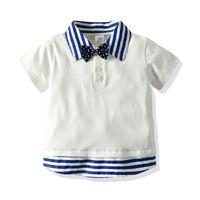 Çocuğun Tişört Kısa Kollu Polo Yaka Yaka Çocuk Tişört Moda Günlük Yaz Çocuk Tişört 90 100 110 120 130