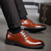 Uomini vestito scarpe da uomo formale lavoro aziendale morbido cuoio vera punta a punta per uomo maschio maschio oxford flatssize 2019 nuovo