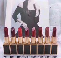 Envío gratis más vendido nuevo maquillaje mate lápiz labial 8 colores diferentes (12 piezas / lote)