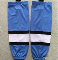 Nieuwe Kids Jeugd Mannen Blauw Ijshockey Sokken Zwart Trainingssokken 100% Polyester Practice Sokken Hockey Apparatuur