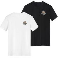 البط القوي شيرت الصيف الأكمام قميص اللون أسود أبيض الحجم S - 3xl فارغة تي شيرت