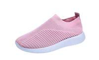 패션 디자이너 여성 신발 양말 트레이너 스니커즈 슬립 온 뜨개질 고품질 캐주얼 스포츠 신발 편안한 트레이너 EU43