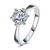 Classic Designer sei artiglio d'argento di colore Anello A + anello di nozze di cristallo Austria per nuziale regalo di Natale per Engagement Ring monili delle donne