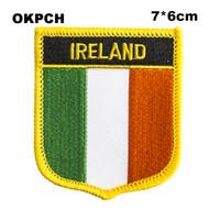 Утюг вышивки флага Ирландии на заплатах вышивки заплат заплатами значков для одежды PT0012-S