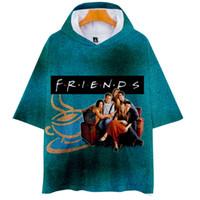 Друзья ТВ-шоу 3D с капюшоном футболка женщины мужчины Уллзанг лучшие друзья 90-х годов с коротким рукавом хип-хоп смешная футболка Slim Fit мужская футболка