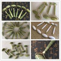Neue Massagegerät-Gerät Tragbare Pratical Jade Gesichtsmassage Roller Anti Falten Gesundes Gesicht Körper Kopf Fuß Natur Schönheit Werkzeuge 6 Arten