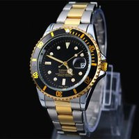 2019 Famous design Fashion Men Big Watch Gold silver Stainle...