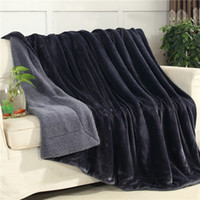 Winter Thick warm Throws Double- sided Blanket Cashmere Fabri...
