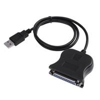 100шт USB к 25 Pin DB25 кабель Адаптер параллельного принтера Новое высокое качество