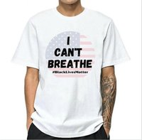 I CAN'T BREATHE Summer T-shirts for Mens Tee Shirts Letters Printed Short Sleeve Hommes Women Couple Tees Clothing S-4XL Wholesale