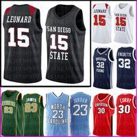 Kawhi 15 Leonard San Diego Staat Aztecs College Jersey NCAA Mens Stephen 30 Curry Basketball Kevin 35 Durant 23 Trikots 7887787887877