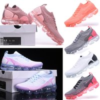 Nike Air VaporMax 2018 Flyknit 2.0 Running Shoes Donna Classic Red Orbit Triple Nero Bianco Dusty Cactus Jogging Walking Trekking Sport Athletic Sneakers 36-40