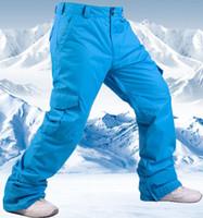 10K snowboard pantalones impermeable de los hombres de invierno de esquí Pantalones hombre impermeable y transpirable La nieve caliente de las bragas masculinas Marca Trekking Esquí Pantalones -30 grados