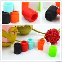 810 de calibre ancho de silicona desechable Drip Tip Tapas coloridas Boquilla Cubierta de prueba de goma con individual solo paquete para TFV8 bebé grande