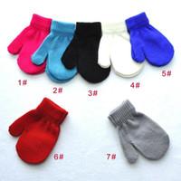 어린이 니트 장갑 겨울 따뜻한 장갑 어린이 소년 소녀 보편적 인 7 색 무료 배송 DHL XD22243