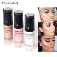 SACE LADY 페이스 글로우 하이 라이터 크림 액상 조명기 메이크업 쉬머 메이 컵 얼굴 메이크업 샤인 브랜드 화장품