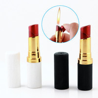 Home Collection Isqueiro Forma Lipstick Isqueiro com tampa de gás inflável fumadores acessórios para mulheres