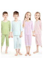 Famille de pyjama d'été sœur et frère correspondant au cool