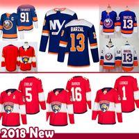 uomini 91 John Tavares 13 Mathew Barzal New York Islanders pullover del hokey Florida Panthers 16 Aleksander Barkov 5 Aaron Ekblad 1 Roberto Luongo