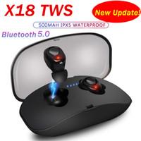 1pcs 새 업데이트 X18 TWS 블루투스 5.0 이어폰 Binaural 통화 스포츠 미니 이어폰 마이크 마이크와 핸즈프리 헤드셋