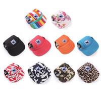 Sombrero de perro mascota Sombrero de béisbol Gorra de lona de verano solo para perros pequeños pequeños Accesorios al aire libre Senderismo al aire libre Deportes EEA348