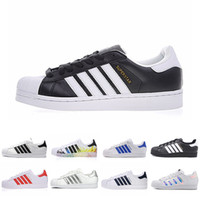 Cool Classic in pelle Superstar Bianco Nero bianco Rosa Blue Gold Superstars 80s Pride Sneakers Super Star Donna Uomo Sport Scarpe casual 36-44