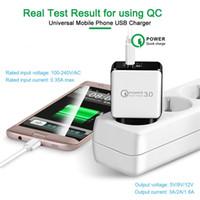caricatore della parete carica QC3.0 veloce Adaptive rapida alimentazione 5V 3A 9V 2A 12V 1.6A per iphone con package