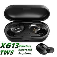 XG-13 TWS Bluetooth 5.0 Kulaklık Mini Kablosuz Kulaklık XG13 Spor Handsfree Su Geçirmez Kulakiçi Stereo Çift Kulaklık Ile Şarj Kutusu MQ12
