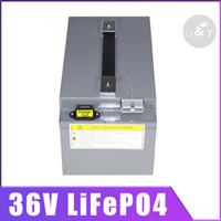 batteria 36v Lifepo4 100 Ah per il motore RV anziani motorino ebike triciclo 36V 60AH LiFePO4 elettrico congelatore freddo stoccaggio RV EV