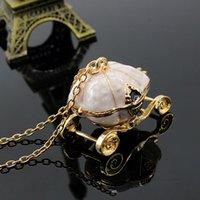 Hallow Pumpkin Carriage charme longo colar de corrente Para Dropshipping Collar Mulheres Moda Cinderella transporte Pingentes