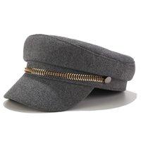 NOUVEAU chapeaux de dames d'automne pour les femmes casquette de baseball militaire plat femmes solides caps Bérets occasionnels chapeau Gorra de militar