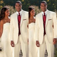2019 Ivory Handsome Wedding Tuxedos Wedding Bridegroom Tuxed...