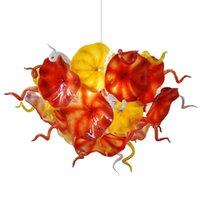 Лампы Последнее дизайн Ручной вручную Стекло Любльье Оригинальная Оранжевая Желтая Цветочная цепь Светодиодный Светильник Стиль Люджи
