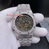 Nuevos relojes de diseño dial esquelético esmerilado astilla de lujo del reloj de los hombres de 42 mm 316 Stanless inoxidable de alta calidad Movimiento automático de los hombres del deporte del reloj