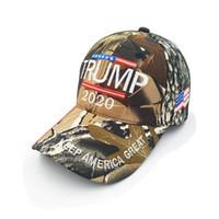 Trump camo baseball chapeau 2020 chapeau KEEP AMERICA grande lettre articles de fête de baseball de camouflage casquette du sport Casual FFA4314-1
