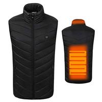 2018 Nouveau Hommes Femmes Gilet électrique chauffant Chauffage Waistcoat USB chaud thermique Tissu Plume chaud Vente d'hiver Veste d'hiver chaud