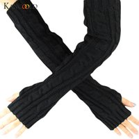 KANCOOLD Gloves winter Flowers Fingerless Knitted Long Glove...