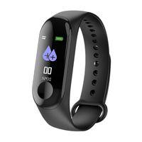 M3 Plus Color IPS Screen Watch Blood Pressure Monitor Heart Rate Smart Bracelet Fitness Tracker Waterproof Smart Wristband for Men Women