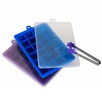 Buz Küp Kalıp Bar Mutfak Aksesuarları 24 Delik DIY Yaratıcı Küçük Kare Şekli Silikon Buz Tepsisi Meyve Buz Küpü Yapımcısı DH0562